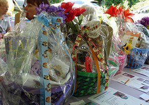 Photo of goody baskets for CHF auction.