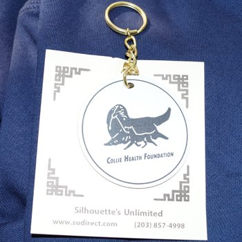 Key chain with Collie Health Foundation logo.