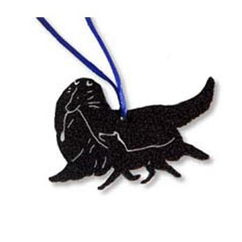 CHF Collie logo ornament for store.
