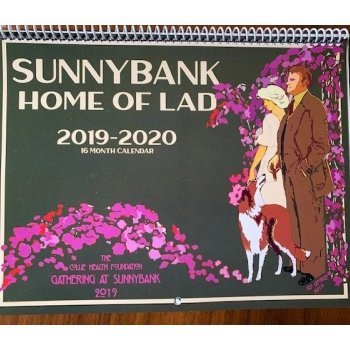 Front cover of 2019 - 2020 Sunnybank calendar for shop.