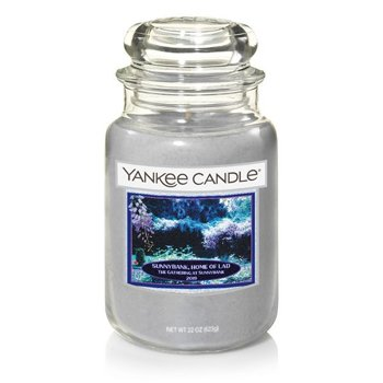 Yankee Candle with Sunnybank label for shop.