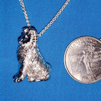 rough collie puppy necklace